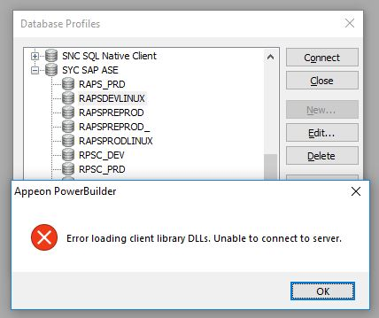 Query in Sybase ASE 15 7 for Powerbuilder 2017
